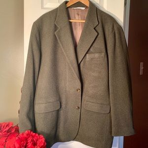 Dark Green Perry Ellis Blazer Size 44XL